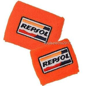 REPSOL HONDA BRAKE RESERVOIR COVER OIL CUP COVER GP SOCK CBR 600 1000 RR ORANGE