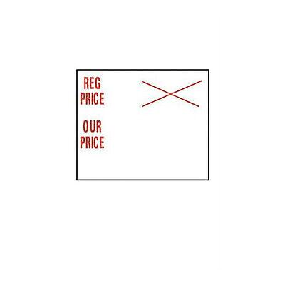 10 Rolls Reg Priceour Price 2-line Pricing Gun Sales Labels 34h X 34w