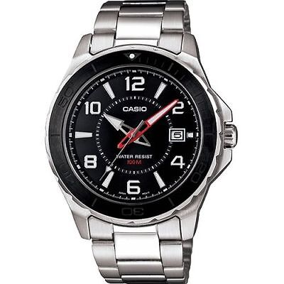 Casio Collection Mens Silver Stainless Steel Date Watch MTD-1074D-1AVEF