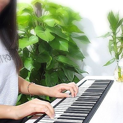 Portable USB 88 Keys Flexible Roll Up Electronic Piano Keyboard MIDI Music In US