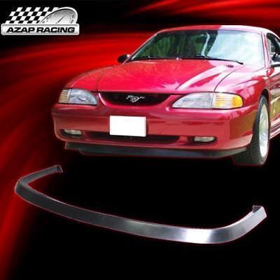 - 1994-1998 PU Front Bumper Lip Spoiler Body Kit Chin Black Fit Ford Mustang 2Door