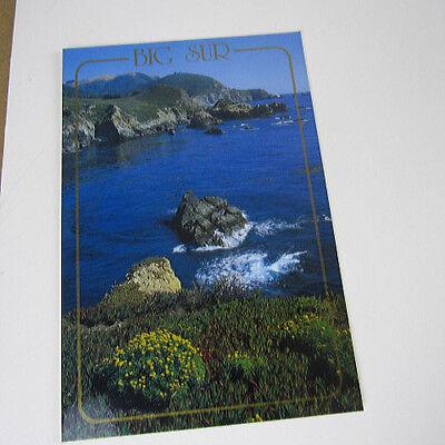 Postcard Big Sur State Highway 1 San Francisco Coast Ca. Vintage Big Sur Coast Highway