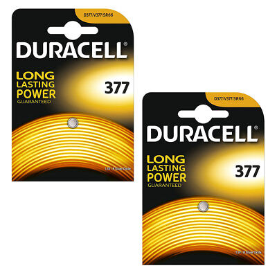 20 x Duracell 377 Watch Batteries Silver Oxide 1.55v Battery D377 AG4 377 Silver Oxide Watch Battery