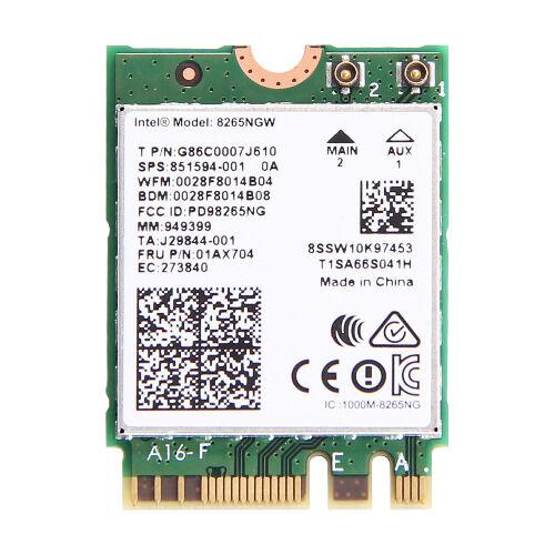 Intel Dual Band Wireless-AC 8265 NGFF 867Mbps WiFi +