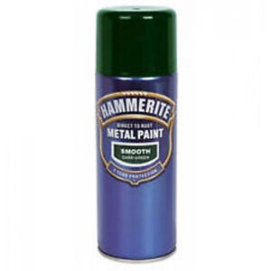 Hammerite   400 Ml  Dark Green Aerosol Spray Smooth Metal  Paint