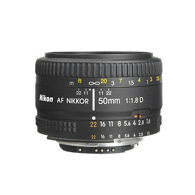 Nikon 50mm f/1.8D AF Nikkor Lens for Nikon Digital SLR Cameras NEW Individualist BOX