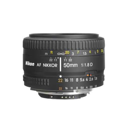Nikon 50mm f/1.8D AF Nikkor Lens for Nikon Digital SLR Cameras NEW ORIGINAL BOX