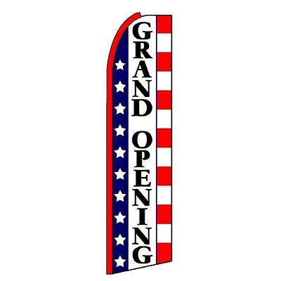 Grand Opening 3 Wide Flutter Advertising Swooper Feather Banner Flag Only
