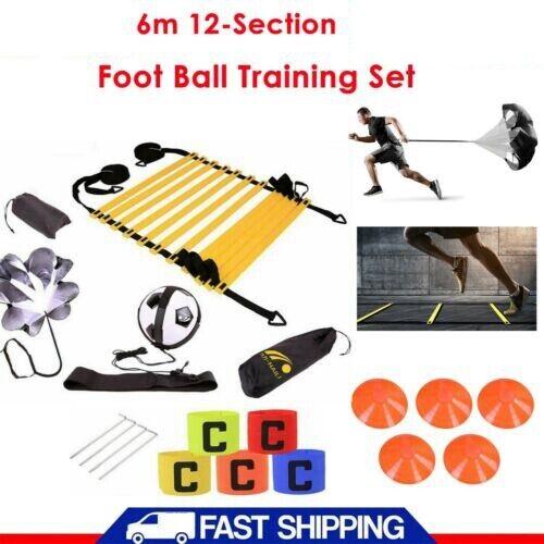 New Speed Agility Hurdles Poles Ladders Football Training Sport Equipment Set