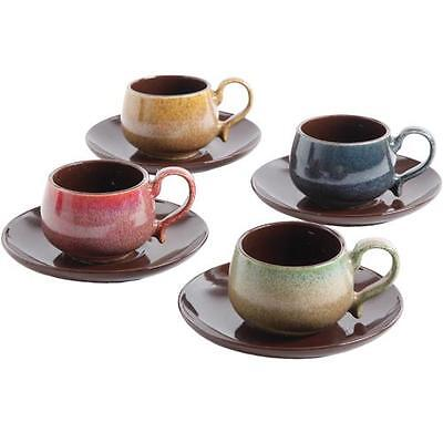 Mr. Coffee 104356.08 8 Piece Espresso Cup And Saucer Set For 4