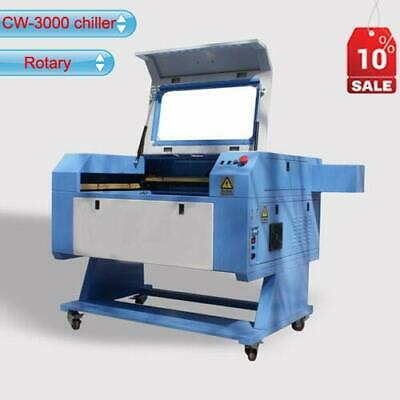 Usb Port 60w Co2 Laser Cutting Engraving Machine Cw-3000 Chiller Rotary