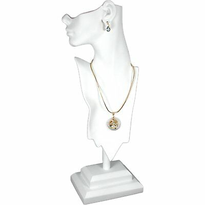 White Mannequin Necklace Bust Jewelry Display 19 12 New