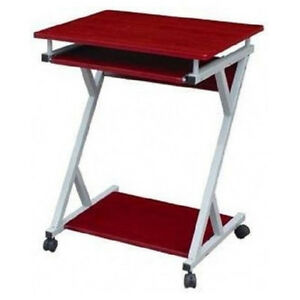 Rolling Computer Desk Desks Table Monitor Stand Cart Tray Small | eBay
