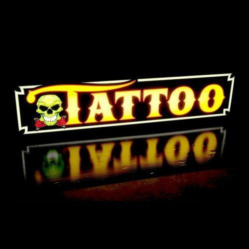 Tattoo neon sign ebay for Neon tattoo signs