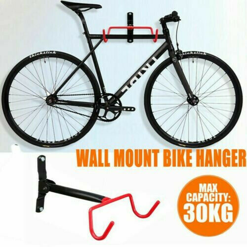 Wall Mount Hook Hanger Bike Bicycle Cycling Rack Storage Garage Steel Holder