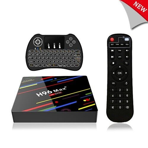 H96  MAX Plus Smart TV BOX Android 9.0 4K WiFi Ultra HD Medi