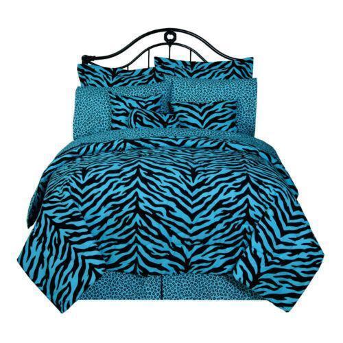 Blue Zebra Bedding Ebay