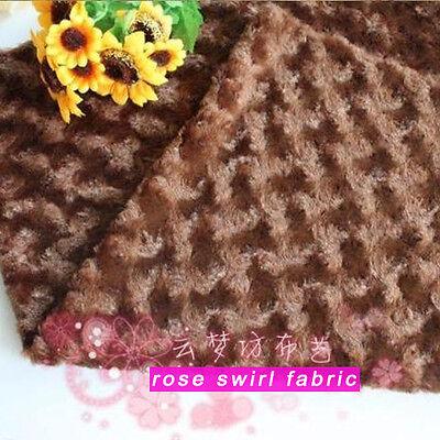 Ткань Brown Rose Swirl Plush Fabric