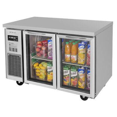 Turbo Air Jur-48-g-n Glass Door Undercounter Refrigerator