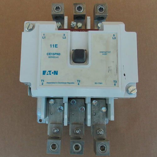 Eaton CE15PN3 Magnetic Contactor 185A 600V 3PH 120V Coil Used