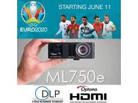 Optoma ML750e HD LED Projector UEFA euro2020
