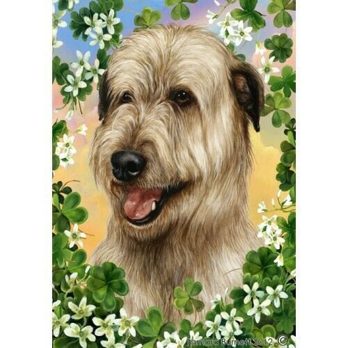 Clover House Flag - Wheaten Irish Wolfhound 31330