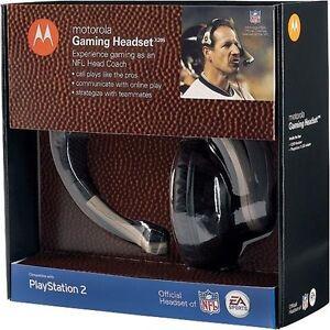 Damaged but works  PS2  NFL Football Head Coach Headset X205 Madden W/Mic Boom
