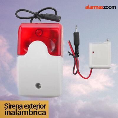 Sirena para alarma exterior inalambrica Conector Jack FS201 alarmas-zoom potente
