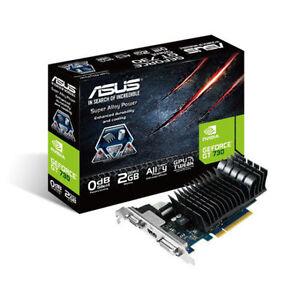 Asus-GeForce-GT-730-2GB-Graficas-Tarjeta-Silencioso-PASIVA-Dual-ranura-PCIe
