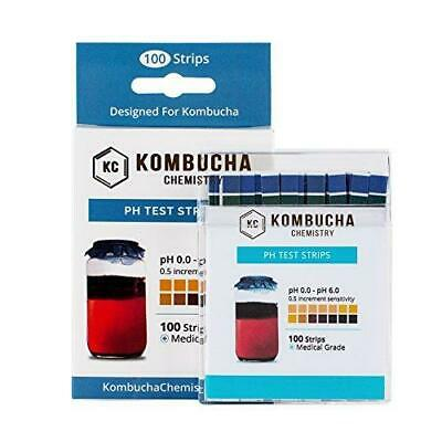 Ph Test Strips For Kombucha Brewing 0-6 0.5 Intervals 100pc Kit