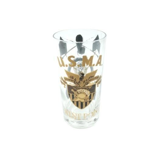 USMA West Point United States Military Academy Collectible Vintage tall Glass