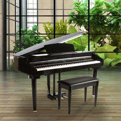 Artesia AG-30 Micro Grand Digital Piano Bundle, 88 Key Balance Action