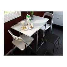 Excellent white colore Ikea Sliding and folding MUDDUS table,can Mont Albert Whitehorse Area Preview