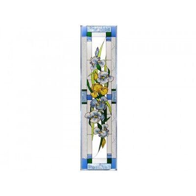 Iris Window (Iris Flowers Art Glass Window Panel Suncatcher 10.25