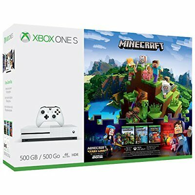Xbox One S 500GB Calm - Minecraft Model Dare Bundle