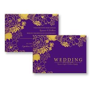 Personalised wedding invitations wedding supplies ebay wedding invitations purple stopboris Image collections