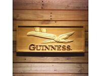 Guinness Toucan 3D Wooden Sign - A+ Quality