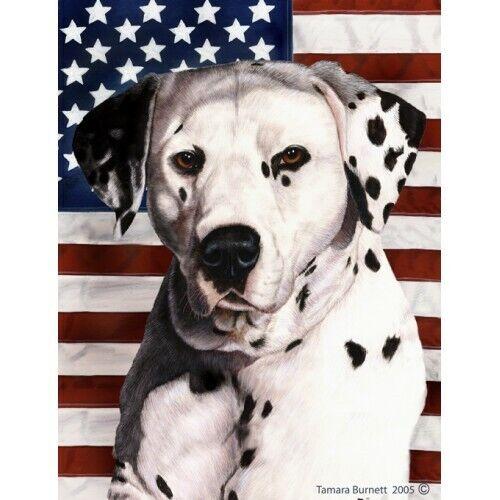 Patriotic (D2) House Flag - Black and White Dalmatian 32009