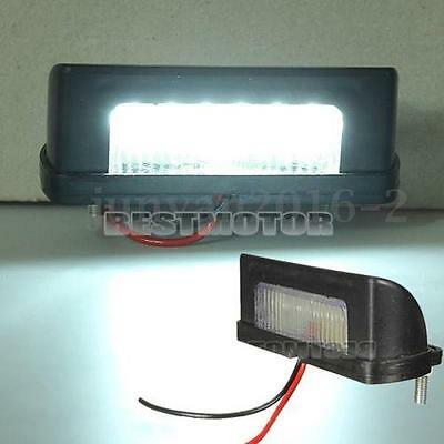 2 X 12V 24v LED REAR LICENSE NUMBER PLATE LIGHT LAMP TRUCK CARAVAN TRAILER