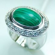 Malachite Ring Size 9