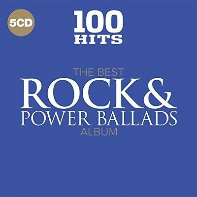 100 Hits: Best Rock & Power Ballads Album / Var - Vari (2017, CD NEUF)5 DISC