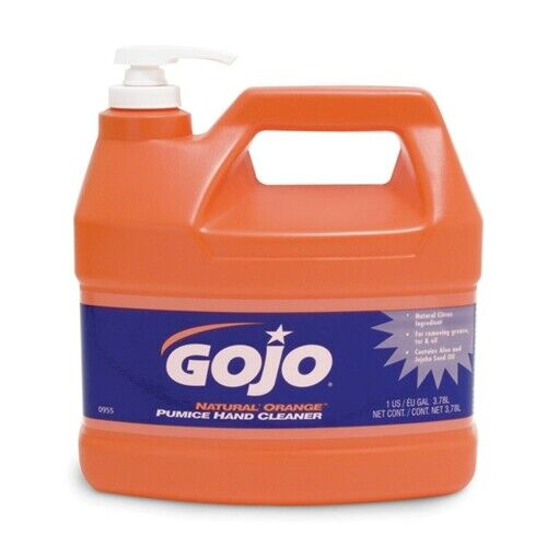 GoJo 0955 1 Gal with Pump Dispenser GOJO� NATURAL* ORANGE� Pumice Hand Cleaner