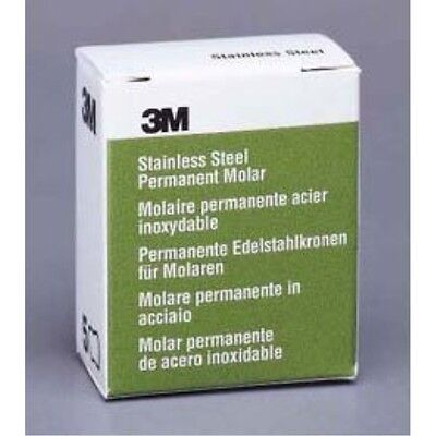 3m Espe 4 Upper Right Molar Stainless Steel Crown Form - Box Of 5 Crowns 6ur4