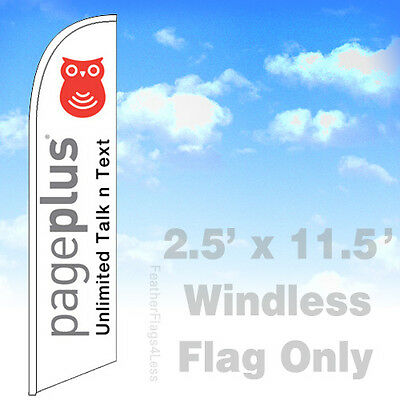 Flag Only 2.5 Windless Swooper Feather Banner Sign - Pageplus Unlimited V2w