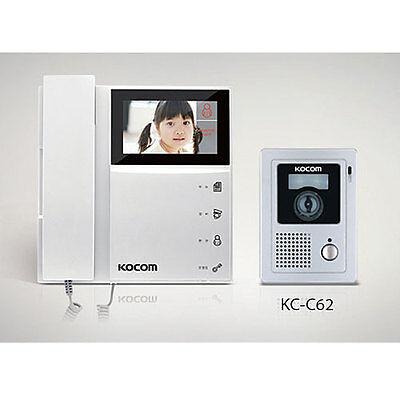 "KOCOM 4.3"" 2 Wire Color Video Intercom KCV-452 + KC-C62 Night Vision Door Camera"