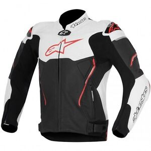 ALPINESTARS ATEM LEATHER JACKET RED/JAQUETTE DE MOTO ROUGE