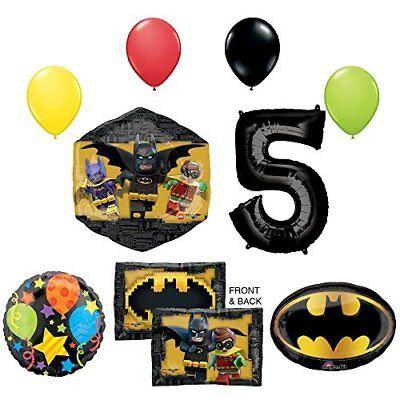 The Lego Batman Movie 5th Birthday Party Supplies and Balloon - The Lego Movie Party Supplies
