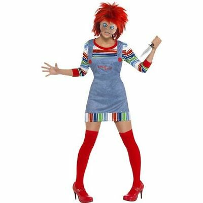 Women's Licensed Female Chucky Halloween Costume Fancy Dress Film Horror Fun](Fun Female Halloween Costumes)