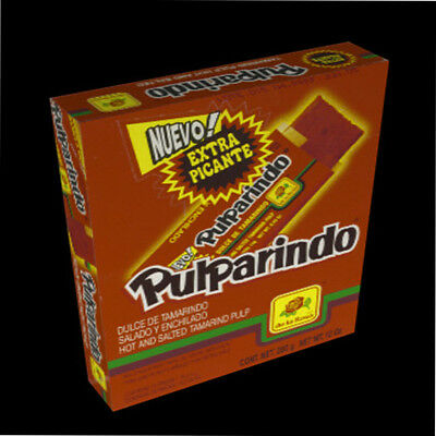 Pulparindo Extra Hot Salted Tamarind MEXICAN CANDY 20-pc box