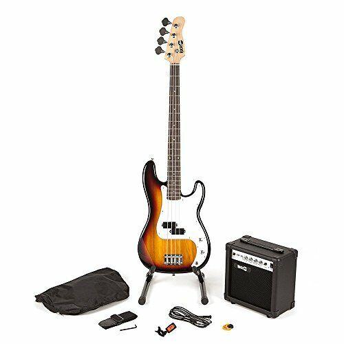 RockJam RJBG01-SK-SB Full Size Bass Guitar super Kit with Guitar Amplifier